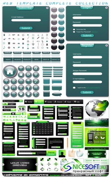 Elements for Web Design - Vector Stock