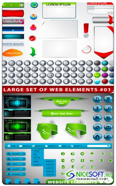 Vector stock - Elements for Web Design #2