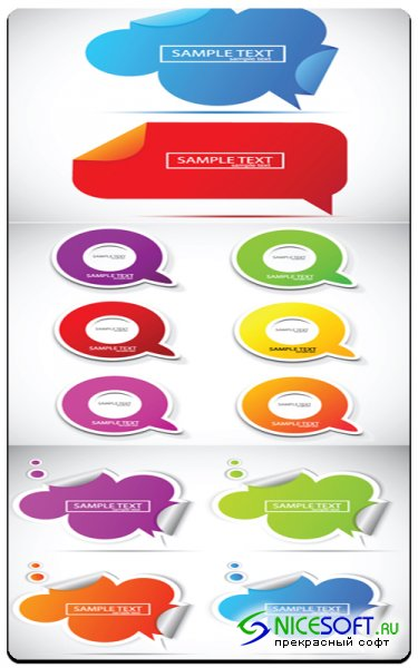 Vector Stock - Coloured Stickers #2