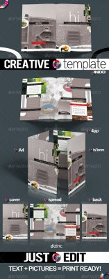 Creative Template Pro v1 / InDesign A4 4pp - GraphicRiver