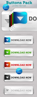 PSD Buttons Pack for Photoshop