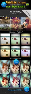 Vintage Actions Pack for Photoshop