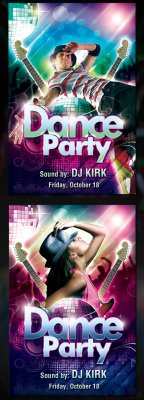 PSD Template - Dance Party Flyer