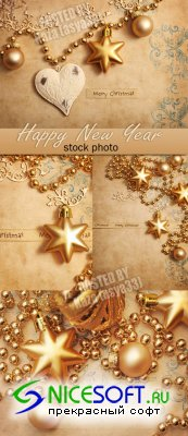 Gold New Year decoration