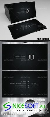 GraphicRiver - Blackish Business Card