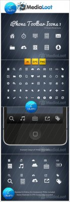 MediaLoot - iPhone Toolbar Icons 1