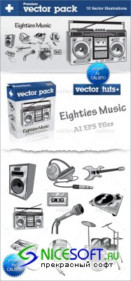 Premium Vector Pack – Eighties Music