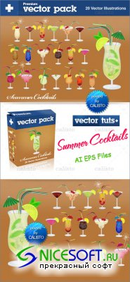 Premium Vector Pack – Summer Cocktails