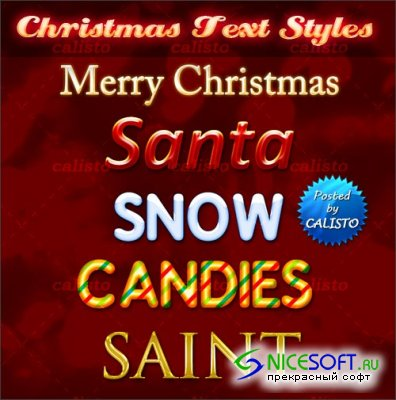 Exlusive Christmas Text Styles for Photoshop