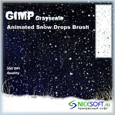 Animated Snow Brushes for GIMP