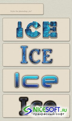 Ice Styles for Photoshop