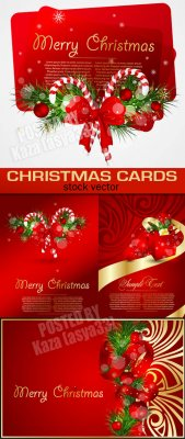 Red Christmas cards 3