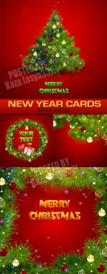 Red New Year cards 2