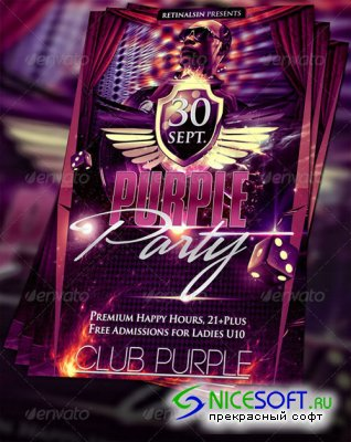 GraphicRiver - Purple Party Flyer Template