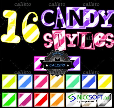 16 Candy Styles for Photoshop