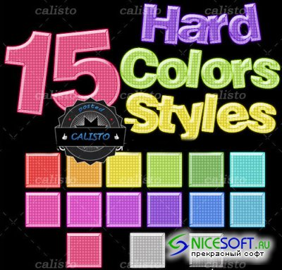 15 Hard Colors Style for Photoshop