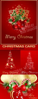 Red Christmas cards 4
