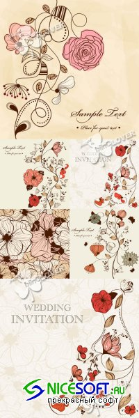 Pattern for wedding invitation 0234