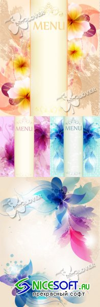 Gentle floral design menu 0243