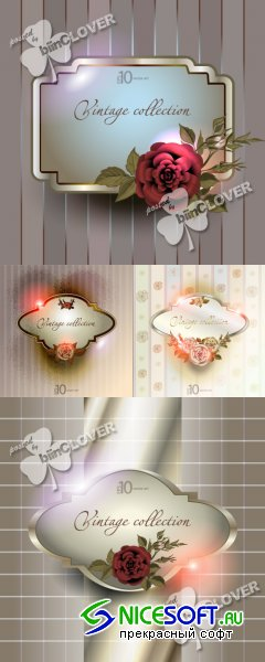 Vintage background with a flower ornament 0244
