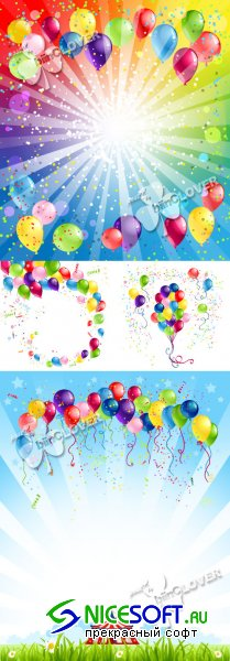 Festive background with balloons 0244