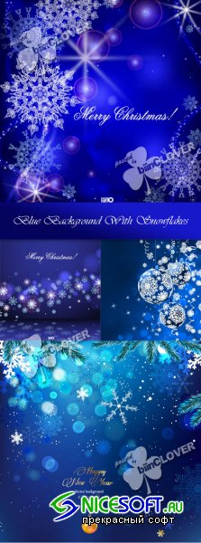 Blue background with snowflakes 0294