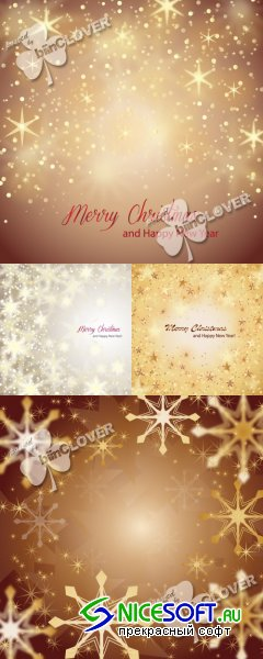 Christmas background with golden stars 0343
