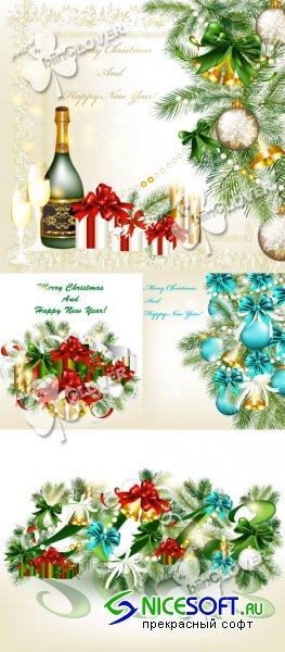 Elegant Christmas background 0344