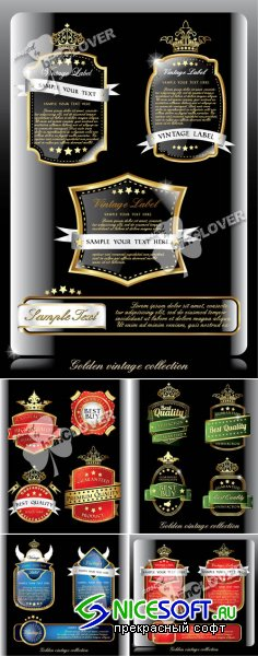 Set of vintage labels 0345