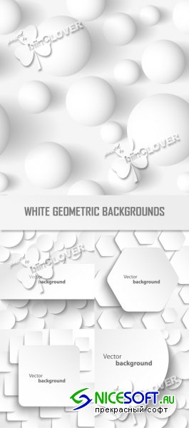 White geometric backgrounds 0347
