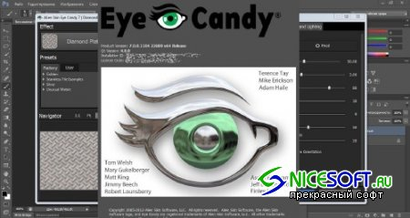 Alien Skin Eye Candy 7.0.0.1104 Revision 22809 for Adobe Photoshop (x86/x64)