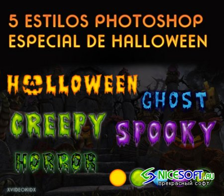5 Estilo Halloween Photoshop Styles