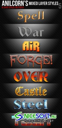 Mixed Layer Text Photoshop Styles #5