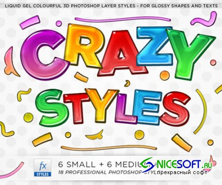 Colorful Professional 3D Gel Photoshop Styles