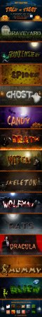 Halloween Text Effects Photoshop Layer Styles