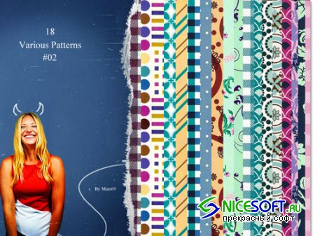8 Various Photoshop Patterns No.2