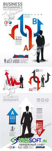 Infographics business concept 0383