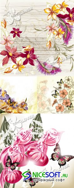 Spring flowers background 0384