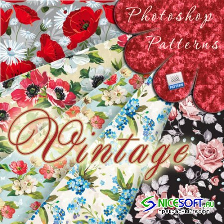 Vintage Floral Photoshop Patterns