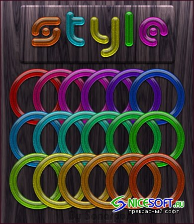 Colourful Circle Photoshop Styles