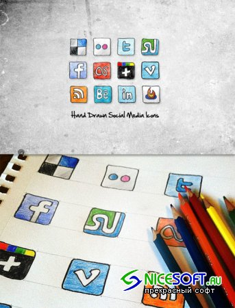 WeGraphics - Sketched Social Media Icons