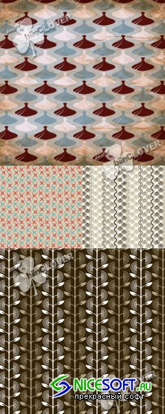 Retro seamless pattern 0387