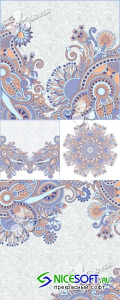 Decorative ornament card 0387