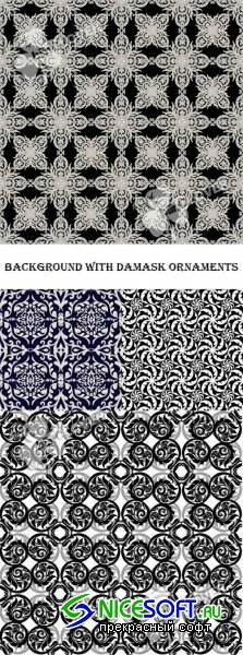 Background with damask ornaments 0394