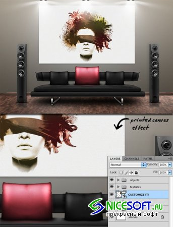 WeGraphics - Lounge Room Canvas