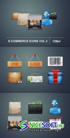 WeGraphics - E-commerce icons 128px Vol2