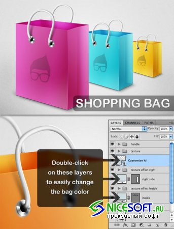 WeGraphics - Shopping Bag Template