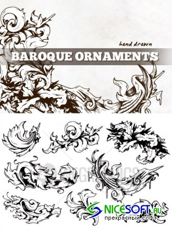 WeGraphics - Hand drawn baroque ornaments