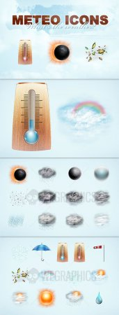 WeGraphics - Meteo, 512x512 pixels weather icons