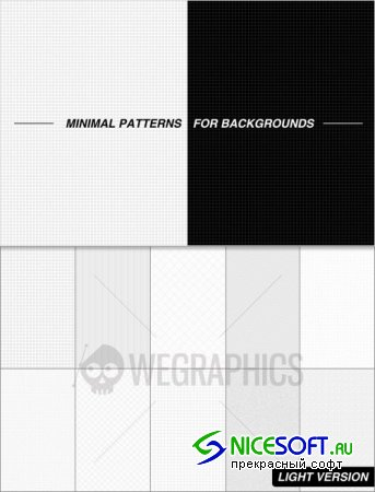 WeGraphics - Minimal patterns for backgrounds